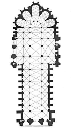 Plan de la Cathédrale de Reims
