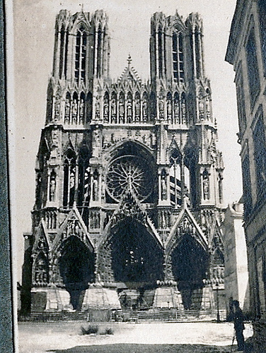 Photo de Marius Vasse du 152 RI à Reims en 1917