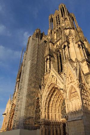 La façade de la Cathédrale de Reims